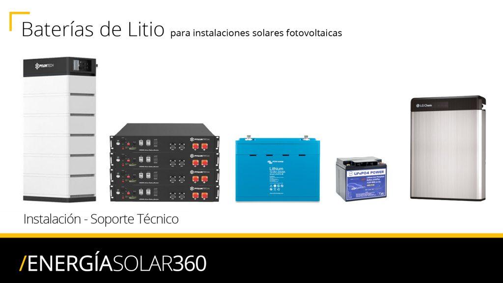Instalación, montaje, reparación y servicio técnico de baterías de litio en Valladolid, Segovia, Ávila, León, Palencia, Salamanca, Soria, Zamora y Burgos.